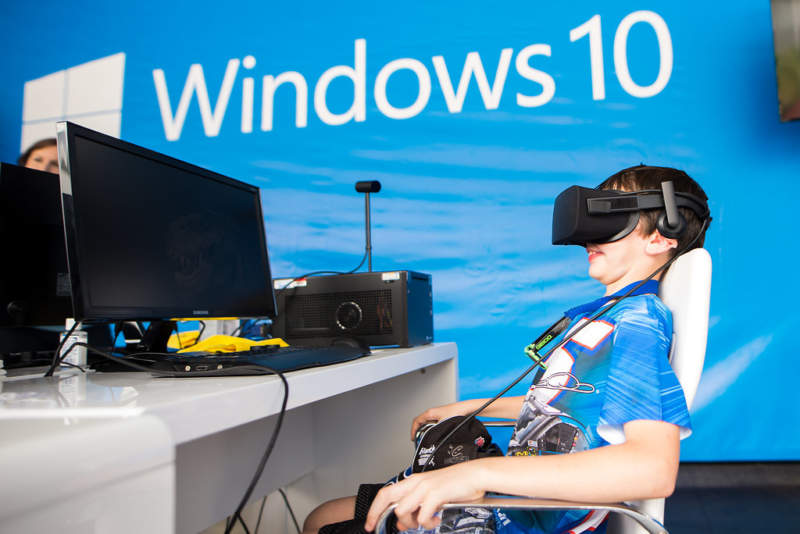 Virtual Reality Technology at Microsoft Nascar Experiential Activation