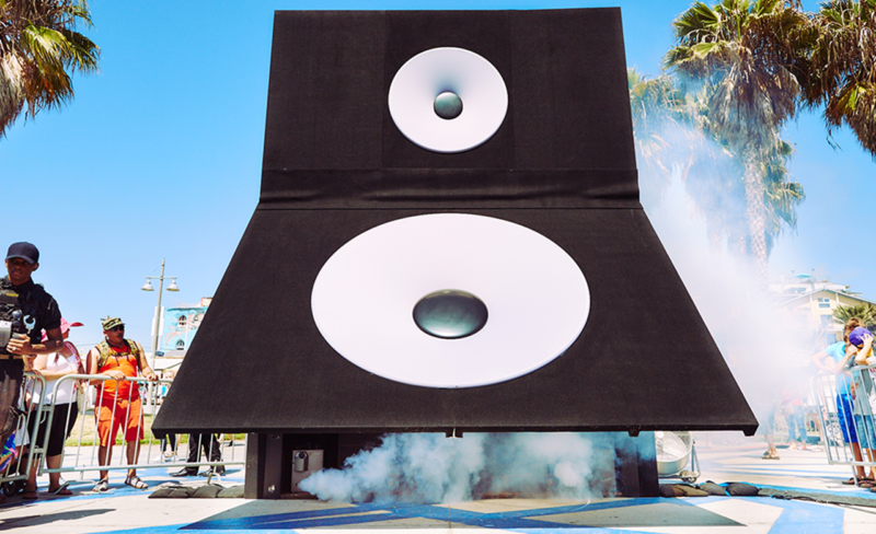 DTS Magic Speaker Box Experiential Marketing in Venice Beach, California