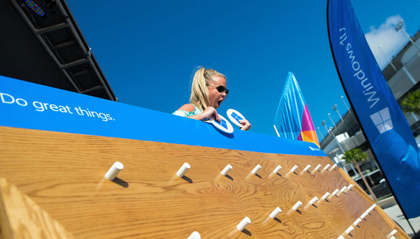 Windows 10 at Daytona Experiential Marketing Activation and Event Production